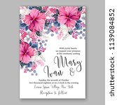 wedding invitation design... | Shutterstock .eps vector #1139084852