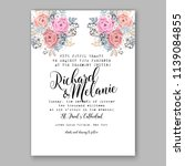 wedding invitation design... | Shutterstock .eps vector #1139084855