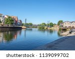 view looking down the river exe ...   Shutterstock . vector #1139099702