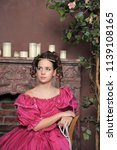 young victorian lady | Shutterstock . vector #1139108165