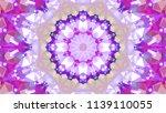 geometric design  mosaic of a... | Shutterstock .eps vector #1139110055