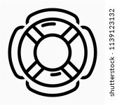 outline lifebuoy pixel perfect... | Shutterstock .eps vector #1139123132