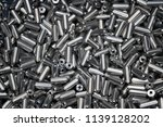 the pile of metals rod after... | Shutterstock . vector #1139128202