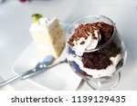 chocolate dessert in glasses....   Shutterstock . vector #1139129435