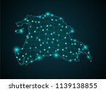 map of syria. wire frame 3d... | Shutterstock .eps vector #1139138855