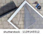 repairing screen storm porch... | Shutterstock . vector #1139145512