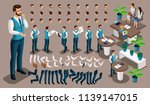 isometric vintage background ... | Shutterstock .eps vector #1139147015