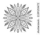 outline mandala for coloring... | Shutterstock .eps vector #1139153672