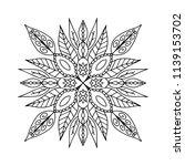 outline mandala for coloring... | Shutterstock .eps vector #1139153702