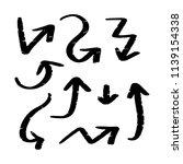 set of hand drawn vector arrows ... | Shutterstock .eps vector #1139154338