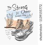 typography slogan with boot... | Shutterstock .eps vector #1139155772