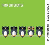 think differently   being... | Shutterstock .eps vector #1139164025
