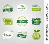 healthy food vegetable vegan... | Shutterstock .eps vector #1139184248