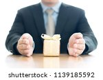 close up of man with present box | Shutterstock . vector #1139185592