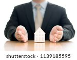 business man hand hold the... | Shutterstock . vector #1139185595