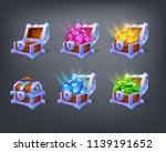 set of cartoon colorful... | Shutterstock .eps vector #1139191652
