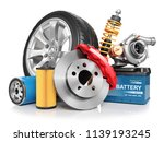 set of car parts isolated on... | Shutterstock . vector #1139193245