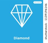 diamond vector icon isolated on ... | Shutterstock .eps vector #1139196146