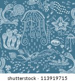 abstract seamless texture with...   Shutterstock .eps vector #113919715
