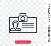 id card vector icon isolated on ... | Shutterstock .eps vector #1139199932