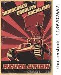 vector retro soviet revolution... | Shutterstock .eps vector #1139202662