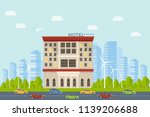 expensive luxury hotel in the... | Shutterstock .eps vector #1139206688