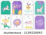 postcards set for birthday... | Shutterstock .eps vector #1139220092