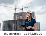 female construction engineer.... | Shutterstock . vector #1139225102