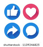 thumbs up and heart icon with... | Shutterstock .eps vector #1139246825