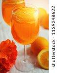 refreshing cold drink aperol...   Shutterstock . vector #1139248622