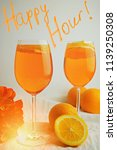 refreshing cocktails aperol... | Shutterstock . vector #1139250308