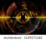 wave function series. visually... | Shutterstock . vector #1139271185