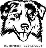 australian shepherd sheltie dog ... | Shutterstock .eps vector #1139273105