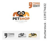 petshop animal company name and ... | Shutterstock .eps vector #1139274632