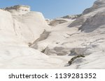 sarakiniko white beach lunar... | Shutterstock . vector #1139281352