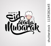 eid al adha mubarak with cute... | Shutterstock .eps vector #1139282645