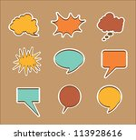 multiple announcement of... | Shutterstock .eps vector #113928616