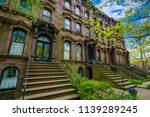 brownstones along chapel street ... | Shutterstock . vector #1139289245