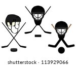 ice hockey coats of arms | Shutterstock .eps vector #113929066