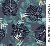 summer seamless pattern with... | Shutterstock .eps vector #1139292152