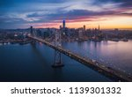aerial cityscape view of san... | Shutterstock . vector #1139301332