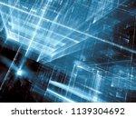 abstract tech ar sci fi... | Shutterstock . vector #1139304692