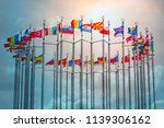 flags of european states on...   Shutterstock . vector #1139306162