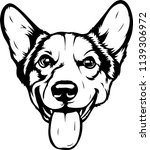 pembroke welsh corgi lap dog... | Shutterstock .eps vector #1139306972