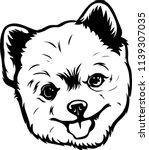 pomeranian lap dog breed face... | Shutterstock .eps vector #1139307035