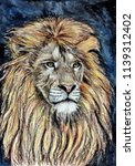 lion is the king of beasts.... | Shutterstock . vector #1139312402