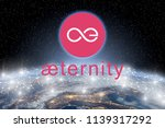 concept of aeternity coin... | Shutterstock . vector #1139317292