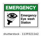 emergency eye wash station... | Shutterstock .eps vector #1139321162