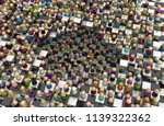crowd of small symbolic figures ...   Shutterstock . vector #1139322362