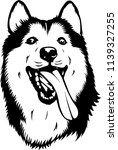 siberian husky lap dog breed... | Shutterstock .eps vector #1139327255